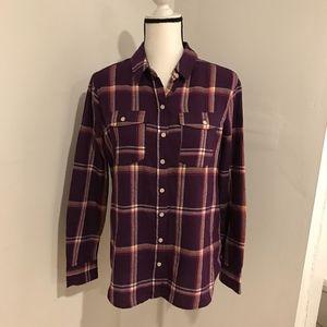 Mossimo Womens Purple Flannel Size L #2